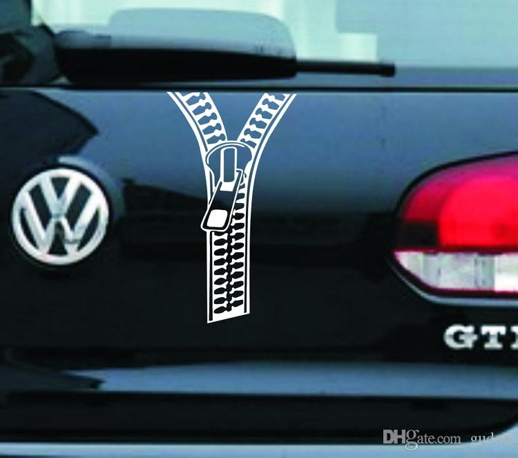 New arrival Car styling creative zipper car stickers music decals for motorcycle automobile