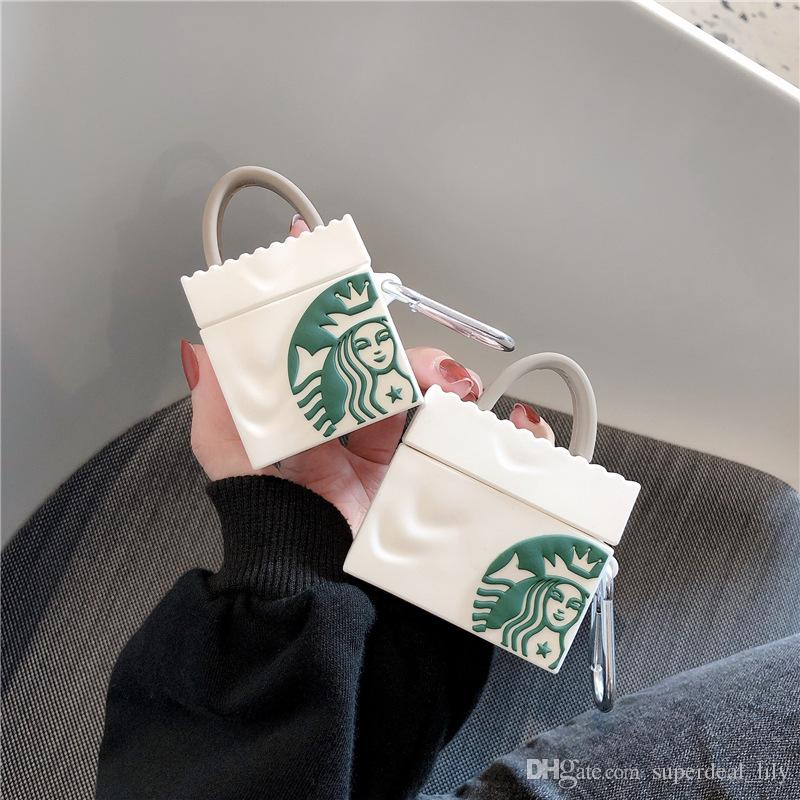 2020 For Airpods Pro Case 3d Starbucks Bag Protective Silicone