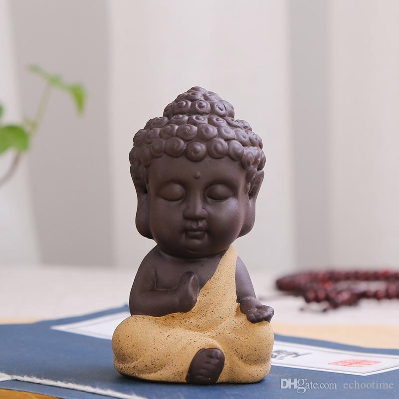Cute Small Buddha Statue Monk Figurine Tathagata India Yoga Mandala Sculptures