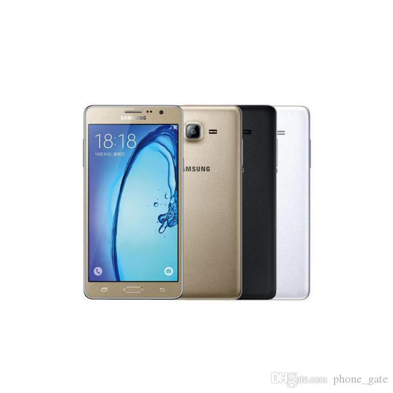 Samsung Galaxy On7 G6000 4G LTE الهاتف الخليوي رباعية النواة 8 جيجابايت 16 جيجابايت 5.5 بوصة بلوتوث wifi 13.0mp المزدوج سيم مقفلة مجدد mobielephone
