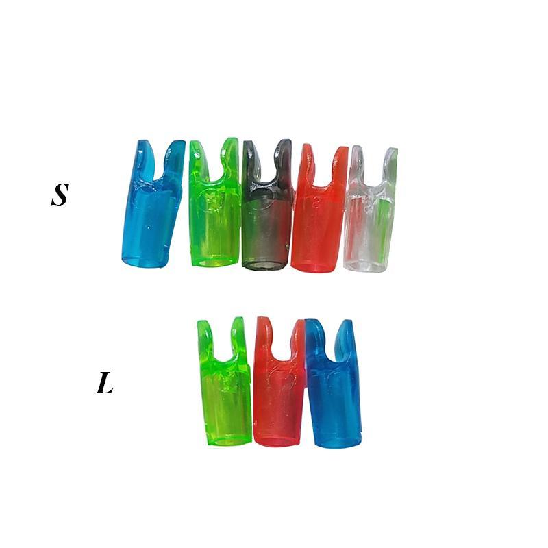 12 pezzi di plastica tiro con l/'arco Arrow Nocks per frecce ID 6.2mm
