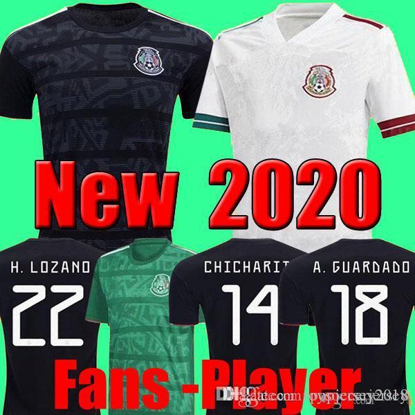 Copa 2020 2021 Camisetas México MEN 2020 e crianças conjuntos de Futebol camisa de futebol do futebol menina Chicharito LOZANO DOS SANTOS GUARDADO ouro