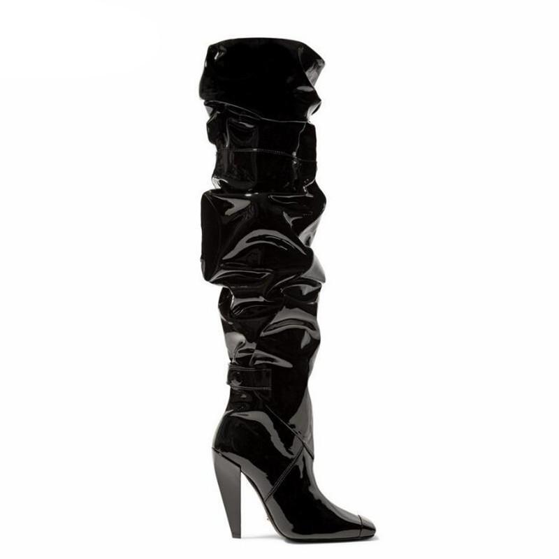 أحذية عالية الجودة مثير إظهار المرأة مضخات ساحة 11CM كعب أداء ملهى ليلي أزياء المرحلة
