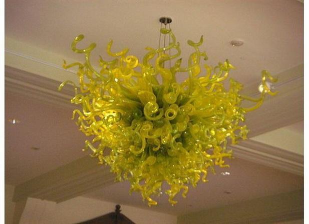 Цветочная форма потолочная люстра 110v-240v AC Led лампы необычные маленькие муранские художественные декоративные подвесные светильники