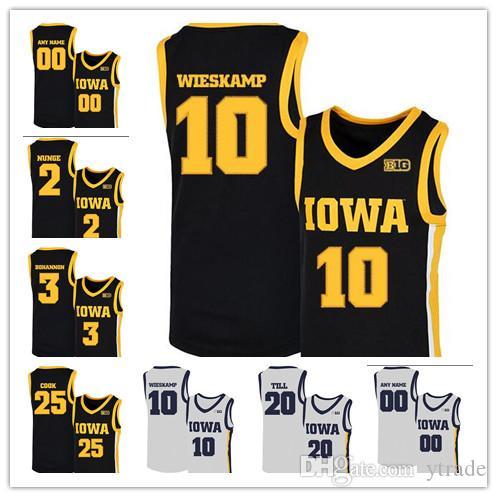 2020 NCAA Iowa Hawkeyes jerseys 10 Joe Wieskamp 25 Tyler Cook, 55 Luka Garza 5 CJ Fredrick 15 Kriener 30 Lester jerseys del baloncesto personalizada