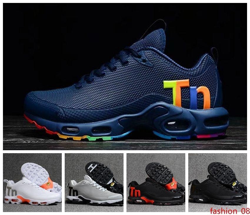 2019 Tn plus Mercurial Hommes Designer Chaussures Homme Chaussures Homme Tns Zapatillas Mujer Mercurial Formateurs Chaussures de course Taille 7-13