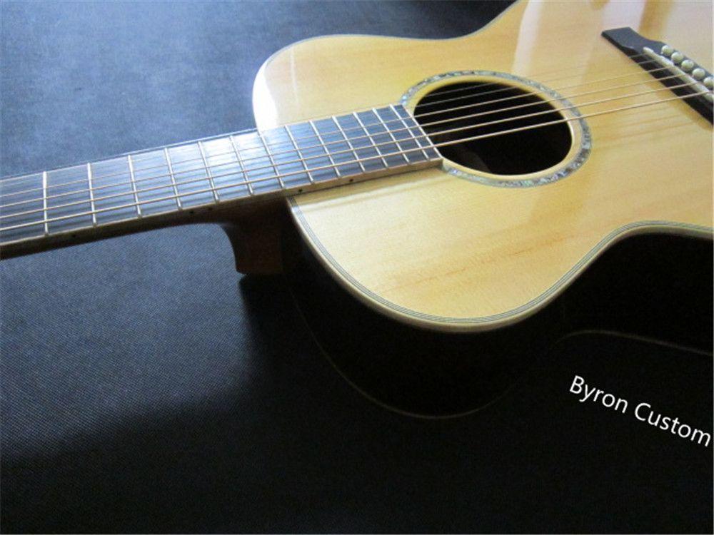 الحرة الشحن صالون الجسم الغيتار صالون خشب جميع الصلبة المصنوعة يدويا الغيتار الصوتية الغيتار صغير 6 سلسلة