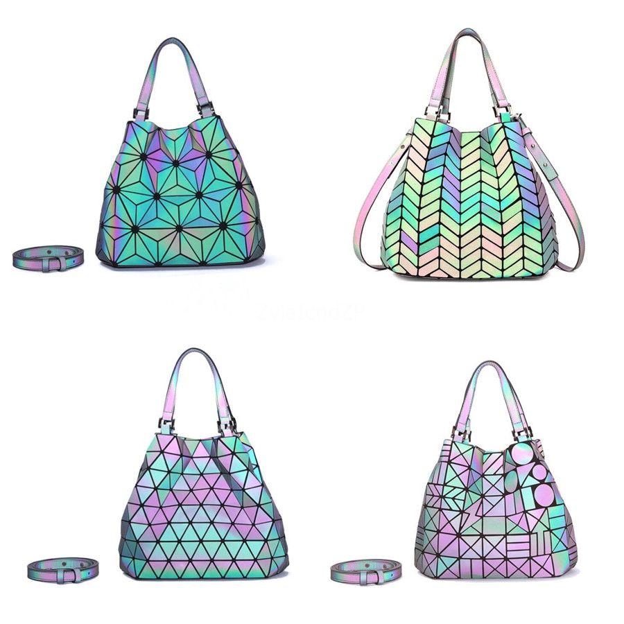 Nopersonality Pinguim Impresso Big Mulheres Pu Luminous Bolsas personalizadas Designer Mulheres Ombro Grande Tote Mão Bag Ladies Female Bag # 407