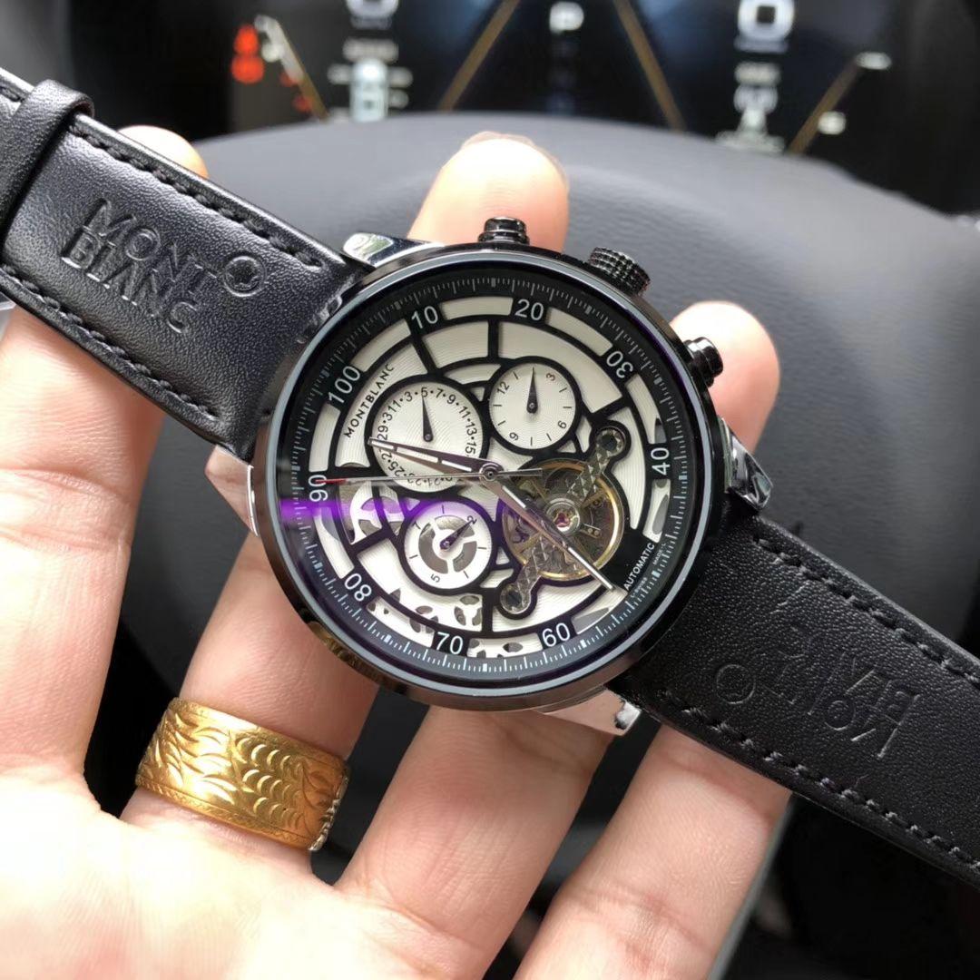 Relógios de pulso de luxo KINYUED esqueleto relógio automático Homens Sun Moon Phase impermeável Mens Tourbillon Relógios Mecânicos Top Marcas