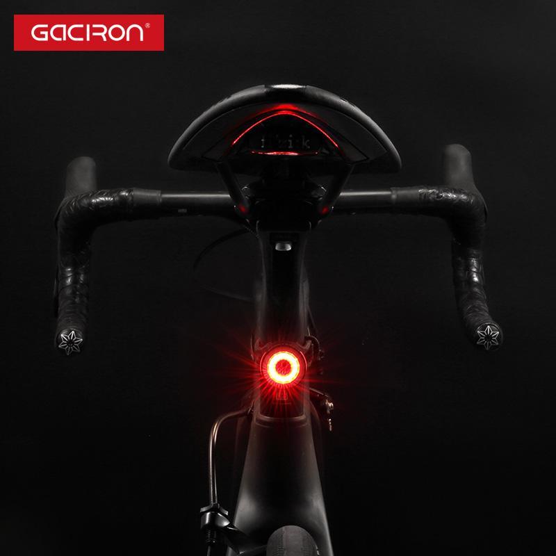 Gaciron bicicleta taillight ipx5 impermeável montando luz traseira led USB recarregável estrada ciclismo luz acessórios de bicicleta
