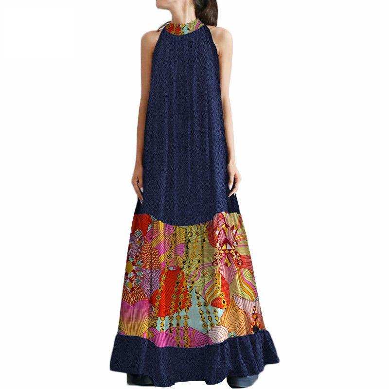 2019 летние африканские платья для женщин до щиколотки с принтом платья с принтом из воска модное платье для девушки секси африканская одежда WY275