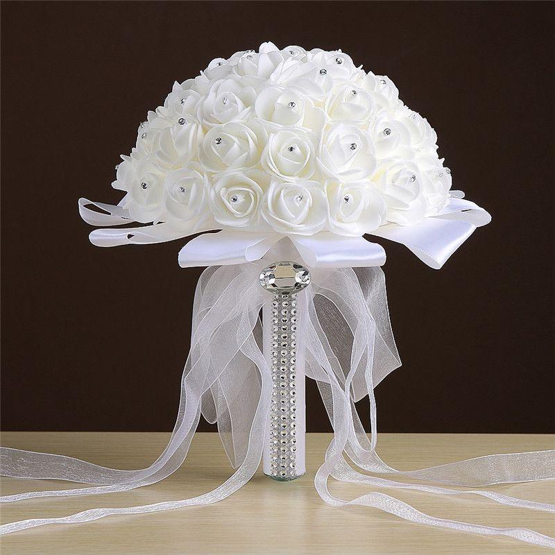 Sales Rose Artificial Bridal Flowers Bride Wedding Bouquet