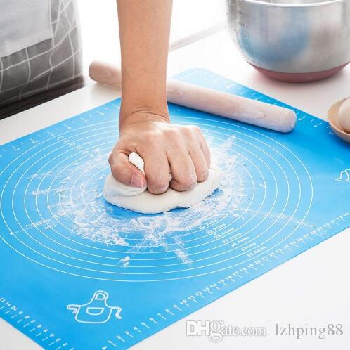 Silicone Baking Mat With Scale Rolling Dough Mat Fondant Pastry Mat Non-stick Bakeware Cooking Tools