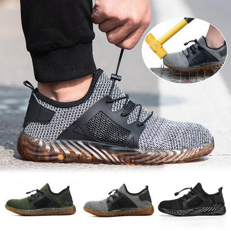 Mesh Vulcanize Sapatos Homens e Mulheres Steel Toe Air Safety Botas de Segurança Prova de Trabalho Sapatilhas Respirável Esporte Sapatos
