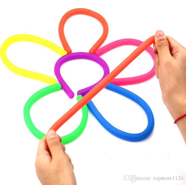Chaude Creative Coloré Squishy De Guérison Squeeze Rope Enfants Jouet Drôle Décompression Cadeau Stress Soulagement Flexible Décor
