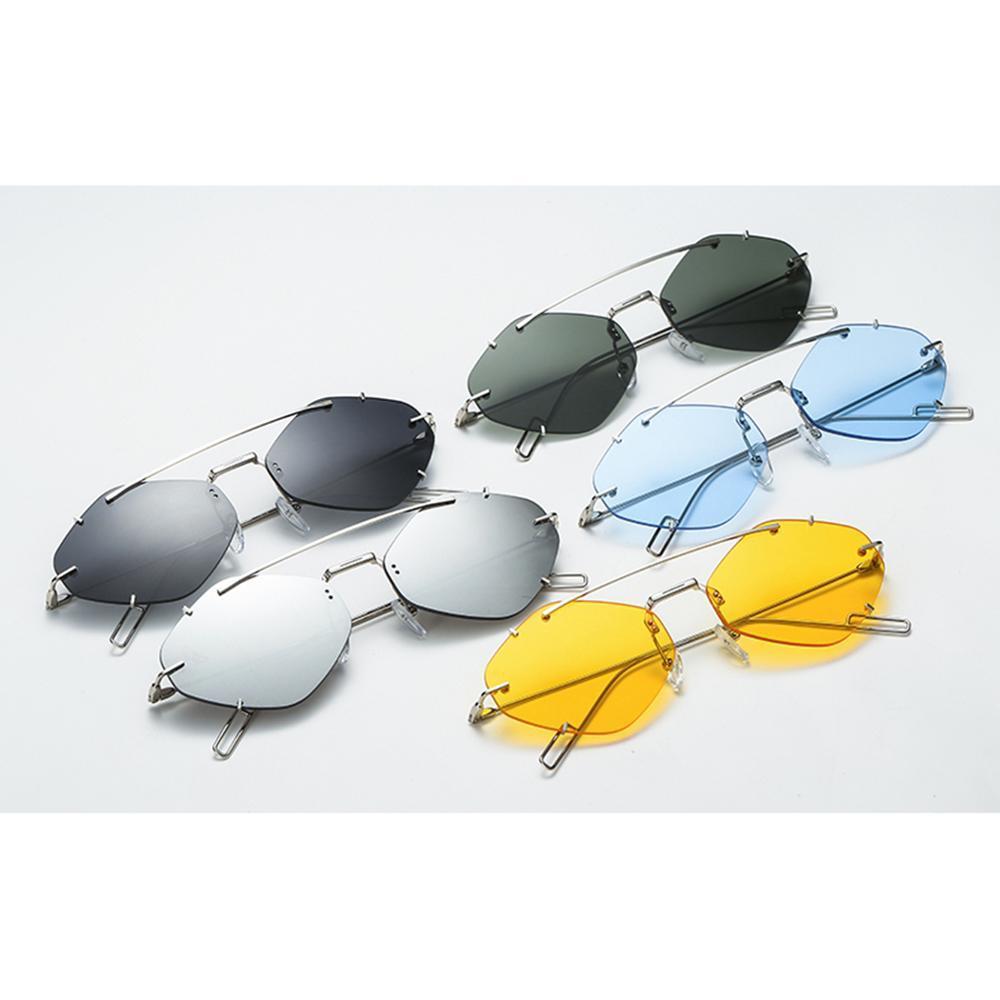 Heiße Verkäufe Vintage-Sonnenbrillen Frauen Sexy Randlos Sonnenbrille 2020 Marken-Entwerfer Weibliche Shades Retro Brillen Süßigkeit Sonnenbrillen