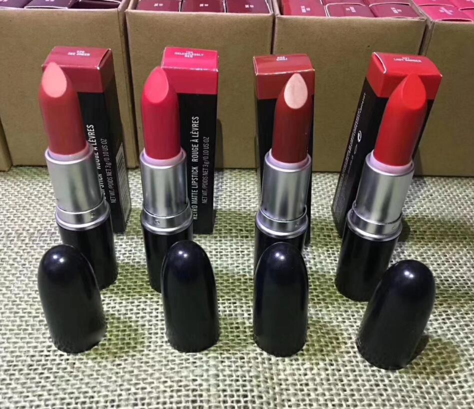 2019 HOT Brand MC Lipstick Rouge A levres 13 Colors Lustre Lipsticks with Series Numbers New Package Plastic Tube