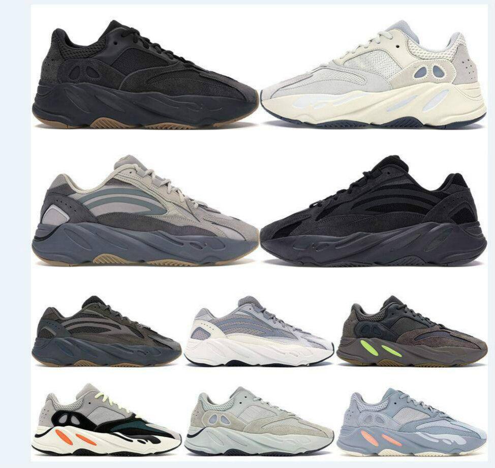 2020 700 Fayda Siyah Dalga Runner 3M Yansıtıcı Kanye West Erkekler Kadınlar Tasarımcılar Marka Sneakers haber Koşu Ayakkabıları