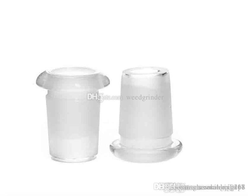 Vidrio Downstem abajo boquilla de la pipa adaptador de 18 mm macho a hembra de 14 mm de vidrio Conector Ash Catcher hendidura Difusor para Bongs del tubo de agua