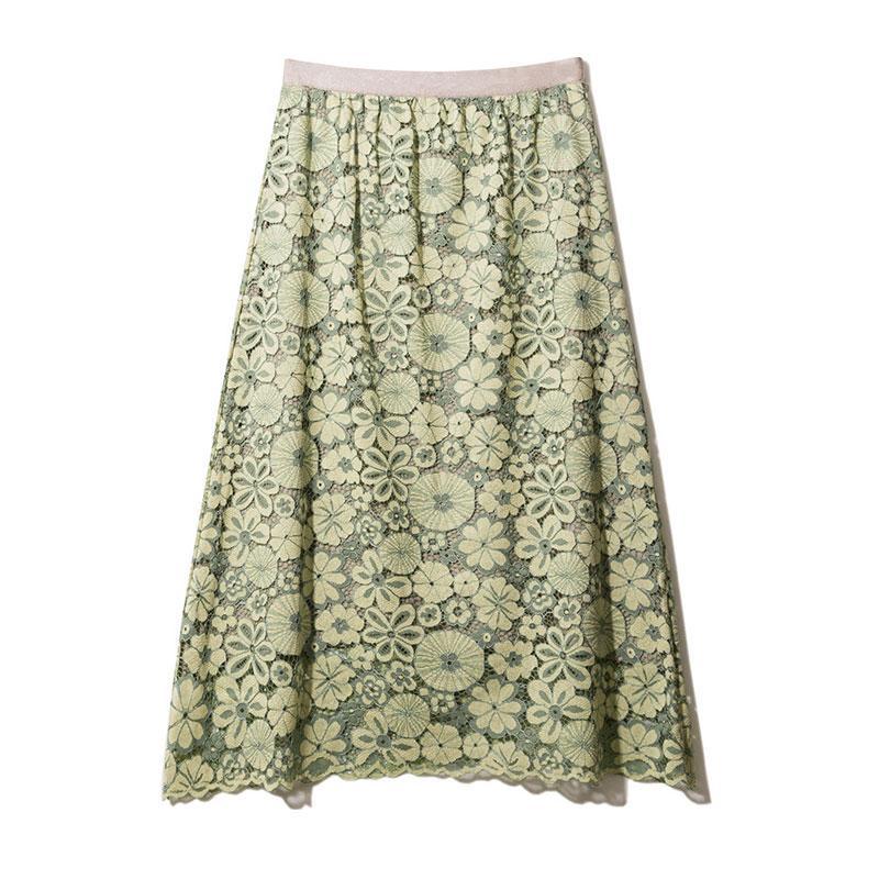 Sherhure 2019 Autumn Women High Waist Knitted Long Skirt Crochet Women A-Line Flower Lace Skirt Black Faldas Jupe Femme Saia