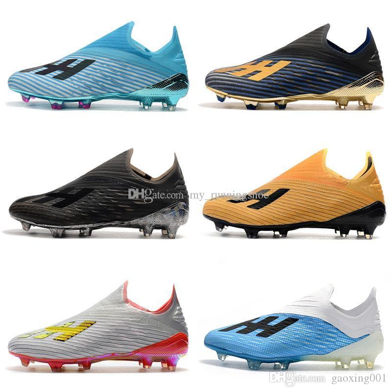 New Mens Copa 19+ 19.1 FG AG 19+x 19 Hot Slip-On Champagne Solar Red Soccer Football Shoes Boots Scarpe Calcio Cheap Cleats