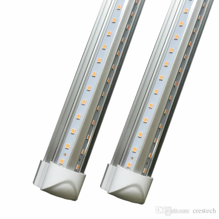 4ft 5ft 6ft 8ft LED Lights V-Shaped Integrated LED Tube Light Fixtures 4 Row LEDs SMD2835 LED Lights 100LM/W Stock in USAV-Shaped 2ft 3ft 4f