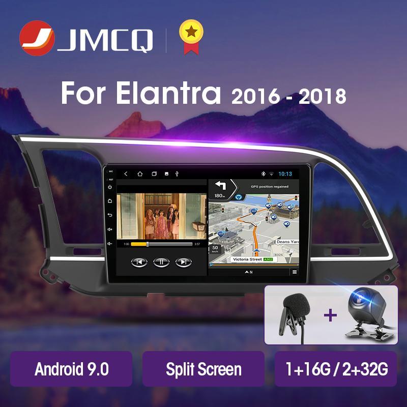 JMCQ T3L 플러스 엘란트라 (6) 2016-2018 자동차 라디오 멀티미디어 비디오 플레이어 네비게이션 GPS 안드로이드 9.0 2DIN 2 딘 헤드 유닛 자동차 DVD