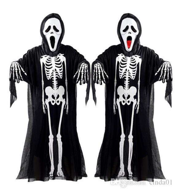Unisex Skeleton Gloves Bone Print Adult//Kid For Halloween Fancy Dress Cosplay OU