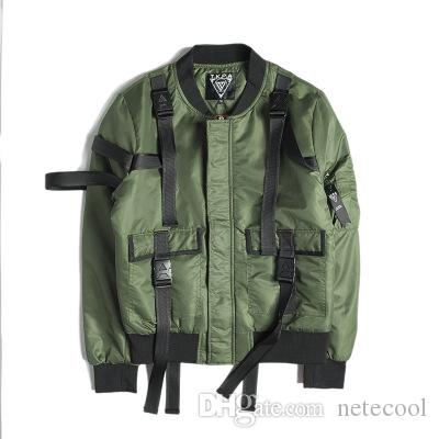 Bomber Hommes Vestes d'hiver Hommes Port pilotes MA1 Jacket Ruban Casual épissé Veste Patch Homme Thicker Coats Marque Jacket Livraison gratuite
