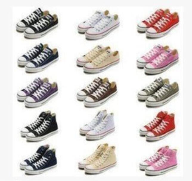Yeni Unisex Yüksek Top Yetişkin kadın erkek Kanvas Ayakkabılar 15 renkler Bağcıklı Rahat Ayakkabı Sneaker ayakkabı retai Size35-45