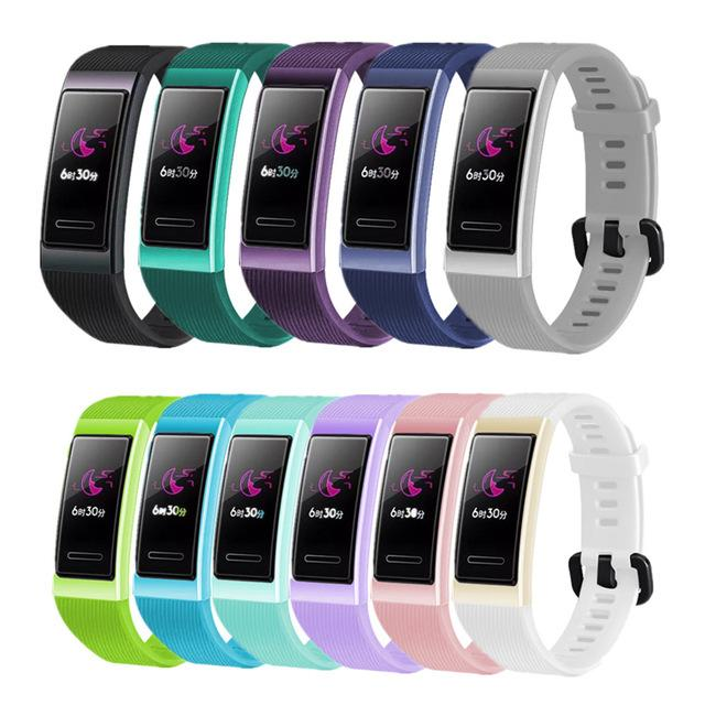Wearable Smart Devices Acessórios Bracelet Por Huawei 3/3 substituição pro Strap Silicone Sports Watch Band Wrist Strap Para Huawei banda 4