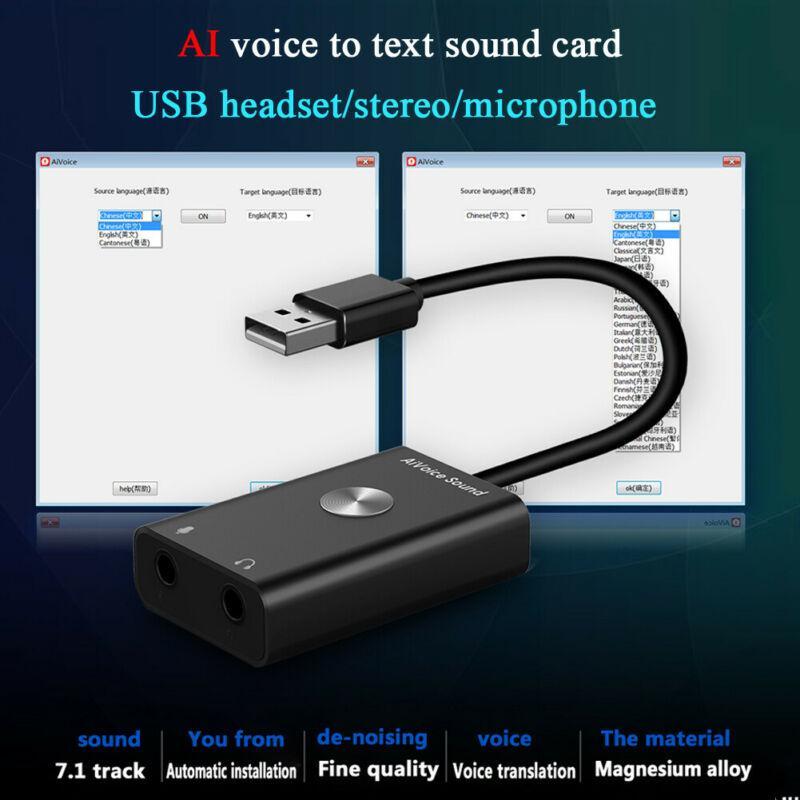 Mini USB intelligente AI Voice to Text Translator 28 Lingue tempo reale Traduzione PC