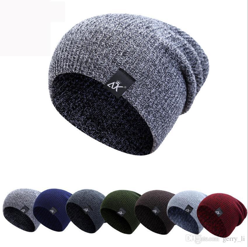 Beanie Hats Cotton For Women Men Skullies Winter Cap Mens Slouchy Winter Hats Beanie Caps Male Warm Knit Skull Cap Bonnet K7981