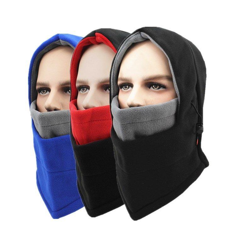 Deux tons Unisexe Sports De Plein Air Caps CS Chaud Coupe-Vent chapeaux Masques Écharpe ski visage Protection épaissir Ski Vélo Caps