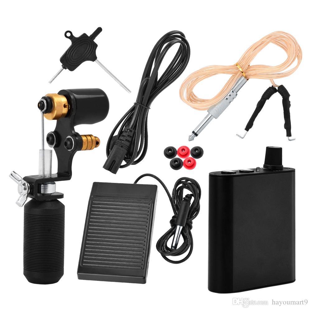 Rotary Tattoo Cartridge Machine Grip Motor Gun Kit de Alimentação Profissional Kit de Alimentação de Arma de Motor Profissional