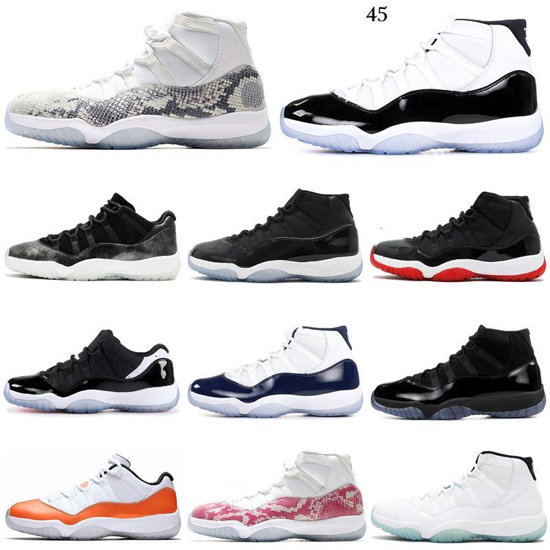 2020 Bred Concord 11 11s aire JD ritro zapatos de baloncesto de las mujeres tapa y vestido naranja Trance de piel de serpiente para hombre formadores Sport zapatillas de deporte