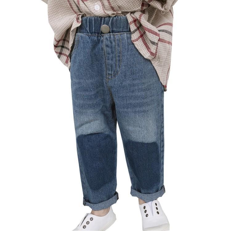 Nouvelle mode Ins style garçons solides pantalons droits bébé denim lâche pantalons enfants pantalon populaire livraison gratuite