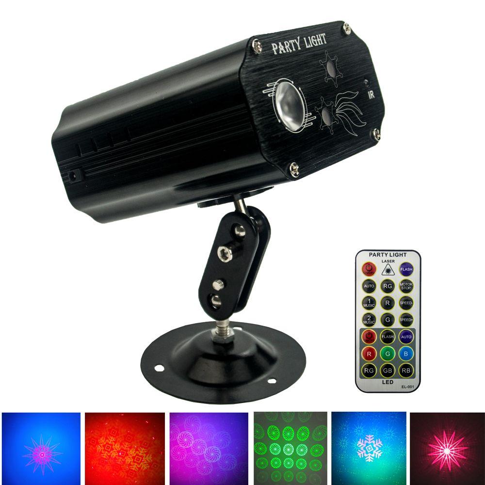 LED laser scène Effets lumineux Active Sound Télécommande 9W Bar Mini 110V-240V karaoké Atmosphere image Lampes colorées