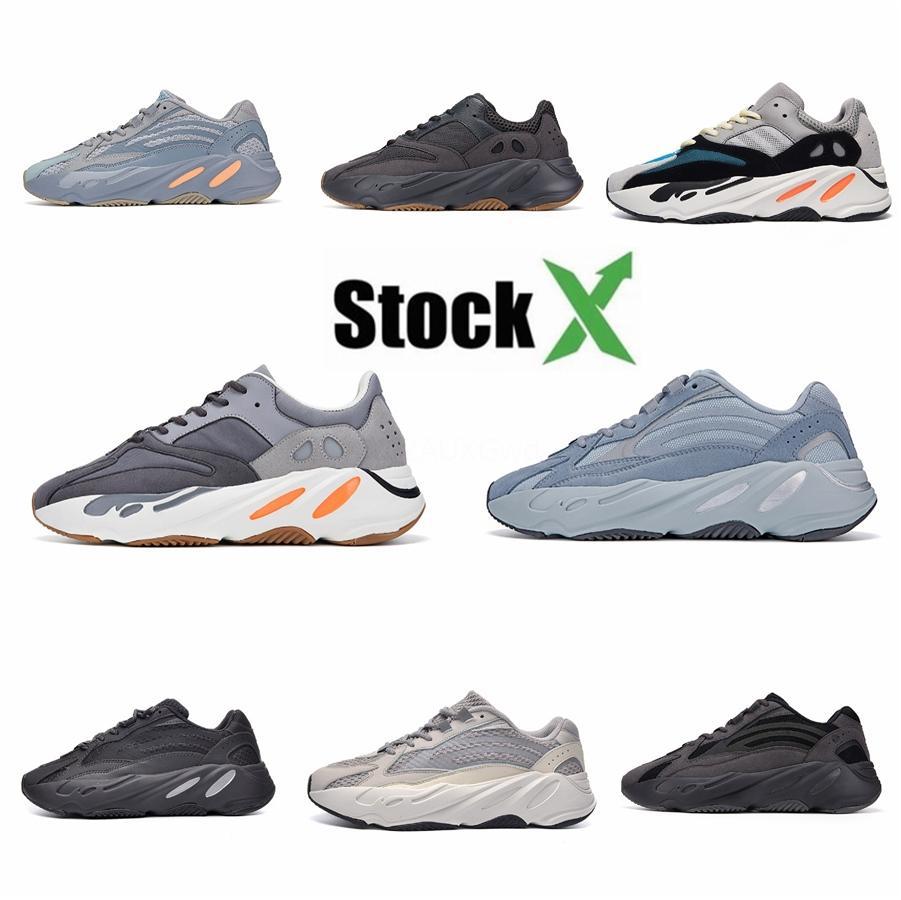 Kanye West 700 V2 Dalga Runner Vanta Karbon Mavi Siyah Womens 700S Atalet Tasarımcı Sneakers Eğitmenler # DSK295 Ayakkabı Koşu