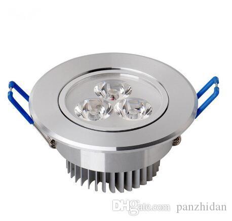 LED Spot 9 W 12 W LED Gömme Dolap Duvar Spot Aşağı Işık Tavan Lambası Soğuk Beyaz Sıcak Beyaz Aydınlatma için 20 / lot