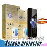 Pellicola proteggi schermo in vetro temperato HOT 9H 2.5D per iPhone X Xr Xs Max 8 7 6 Plus con scatola di carta
