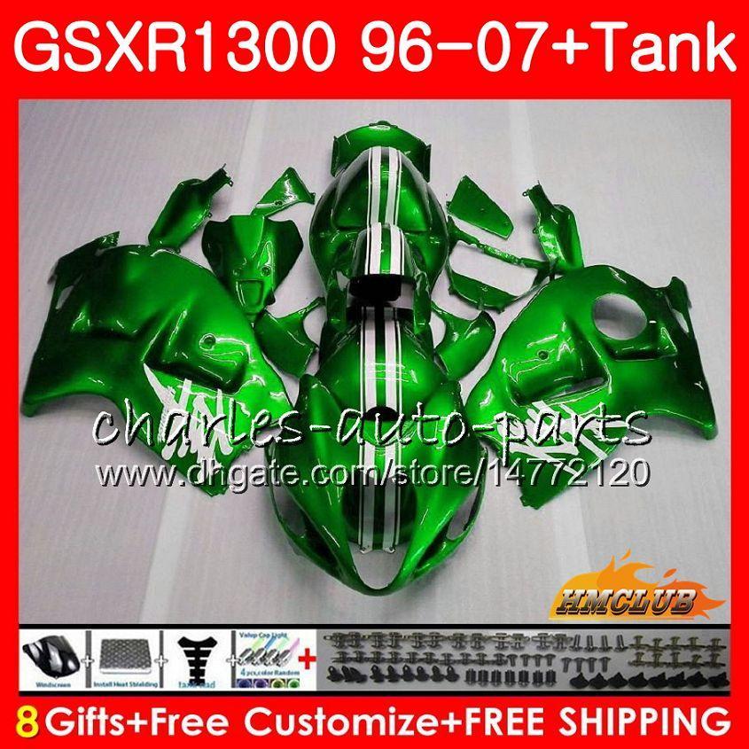 Kit voor Suzuki Hayabusa Pearl Green GSX-R1300 1996 1997 1998 2007 24HC.15 GSXR 1300 GSXR1300 96 97 98 99 00 01 02 03 04 05 06 07 Valerijen