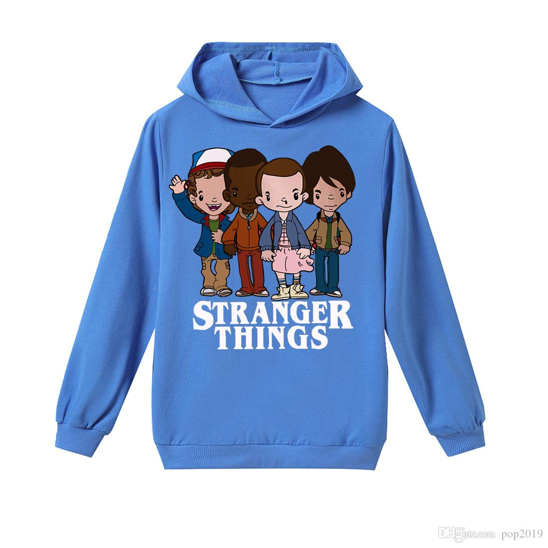 SS-tranger-Thing-s Animated Series Kids T-Shirts Long Sleeve Tees Fashion Tops for Boys//Girls