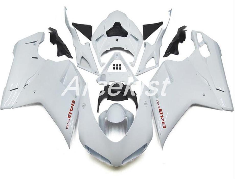 New ABS motorcycle Full Fairings set Fit For Ducati 848 1098 1198 1098s 1098R EVO 2007 2008 2009 2010 2011 2012 Custom White