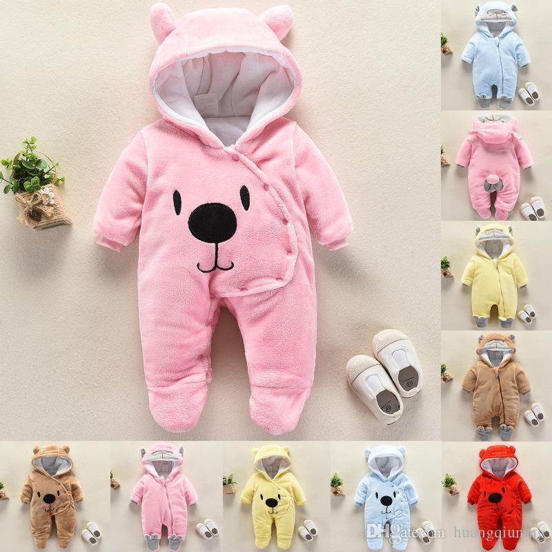 Neugeborene Baby-Kleidung für Neugeborene Baby-Winter-Kleidung-Mädchen-Spielanzug 2019 Mädchen Schneeanzüge