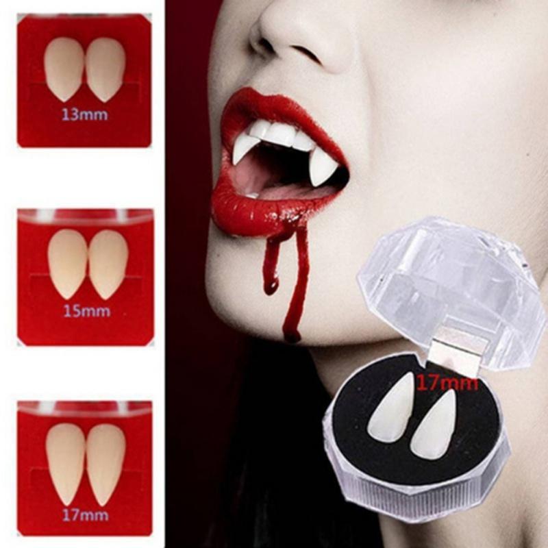 DIY Halloween Cosplay Parti Dikmeler Protez Zombi Vampir Dişleri Hayalet Şeytan Dişler Sahte Diş Kostüm Festivali Parti Aksesuarları
