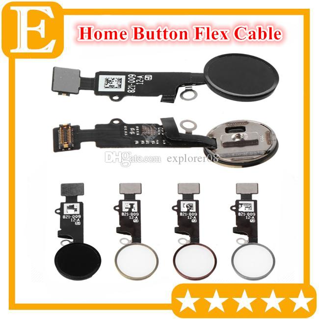 Home Button Flex Ribbon Cable Assembly For iPhone 7 8 8G plus home key flex Replacement parts