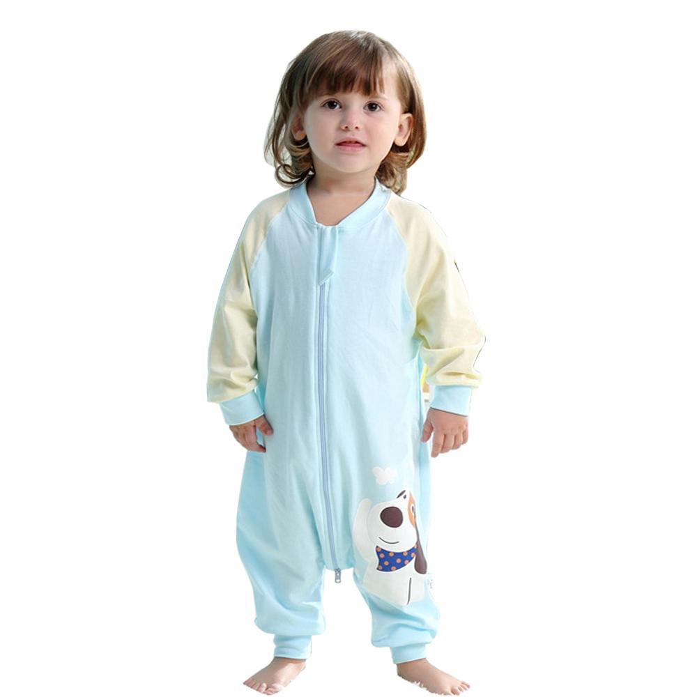 1 Algodão criança Thinner Sleeping Bag Sack manga comprida Wearable cobertor menina e Sleepingwear para a Primavera Verão Boy