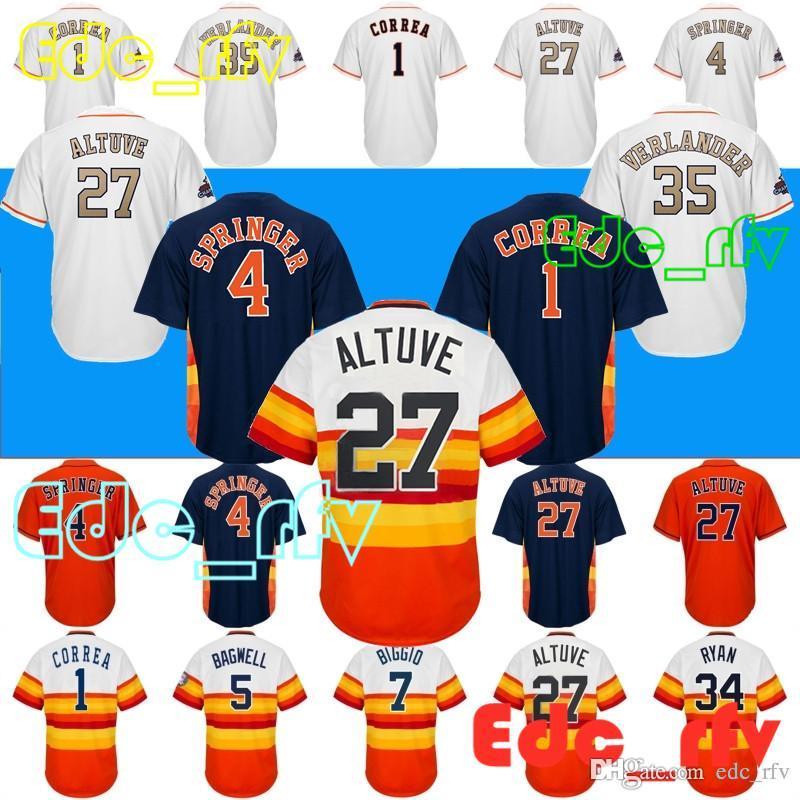 finest selection 2b606 0d159 2018 Houston Astros Jerseys 27 Jose Altuv Jerseys 34 Nolan Ryan Jerseys 1  Carlos Correa 4 George Springer7 Craig Biggio From Edc_rfv, &Price; | ...