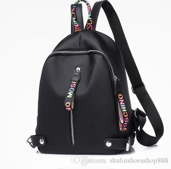 Designer Rucksack Rucksäcke Frauen Drop Pack-Kapazität Nylon für große hohe weiße rosa Qualität mit schwarzen 3 Mädchen Farben zurück Versand SQGQQ